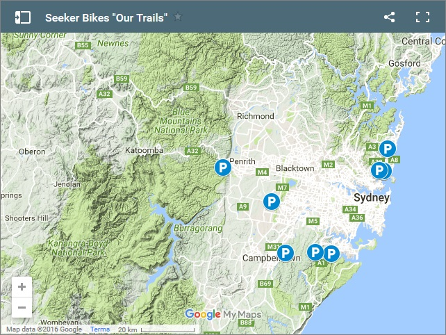 Sydney Our Trails Map